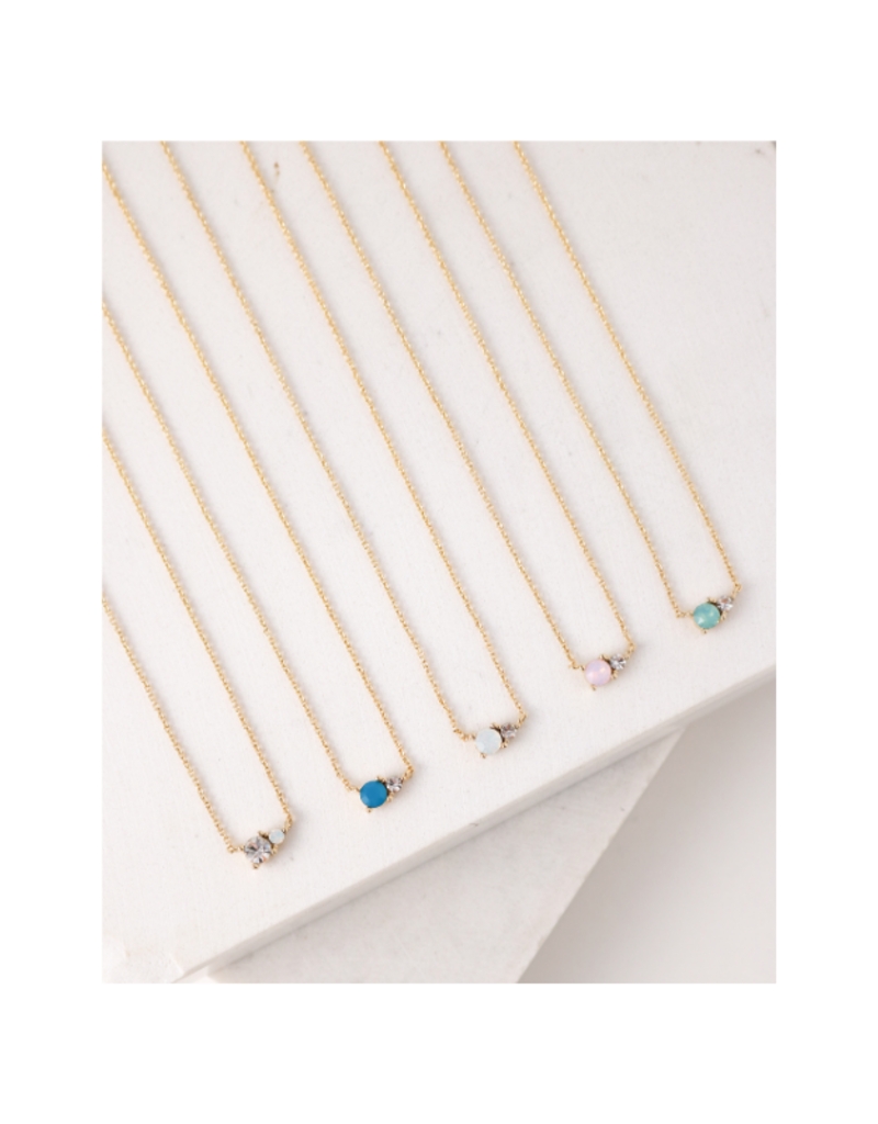 Lover's Tempo Dolce Necklace in Pink Opal by Lover's Tempo