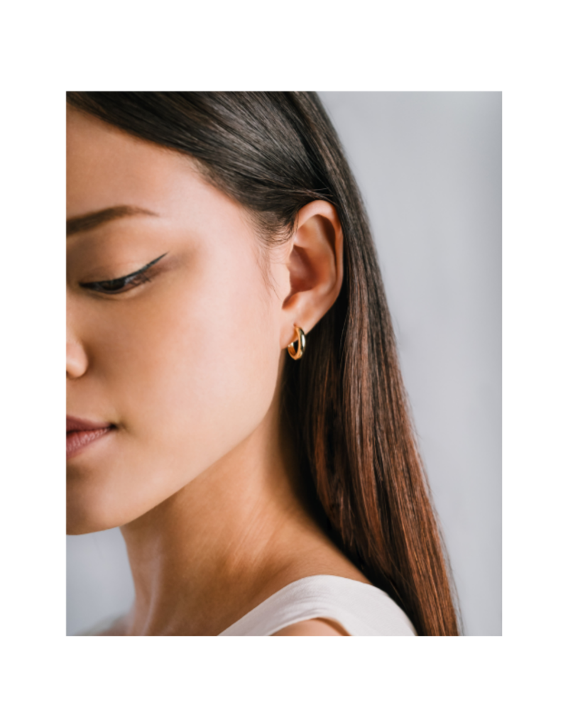 Lover's Tempo Bea Hoop Gold-Plated Earrings 15mm by Lover's Tempo