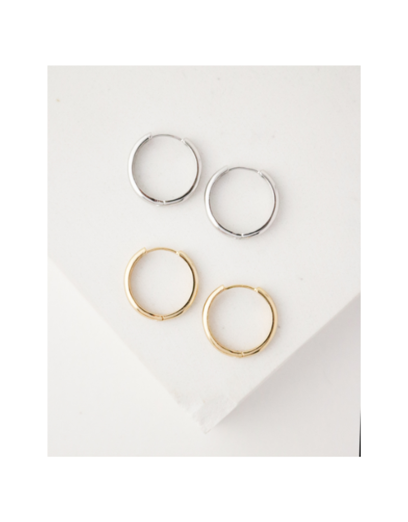 Lover's Tempo Bea Hoop Gold-Plated Earrings 20mm by Lover's Tempo