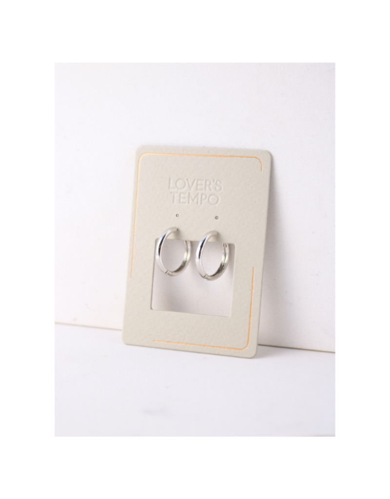 Lover's Tempo Bea Hoop Silver-Plated Earrings 20mm by Lover's Tempo