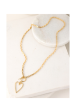 Lover's Tempo Lovestruck Heart Necklace in Gold by Lover's Tempo