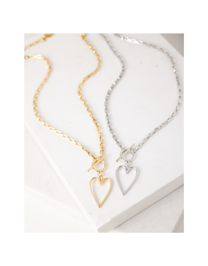 Lover's Tempo Lovestruck Heart Necklace in Silver by Lover's Tempo