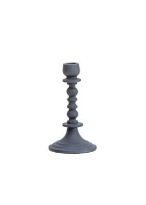 Bloomingville Matte Black Aluminum Taper Candle Holder