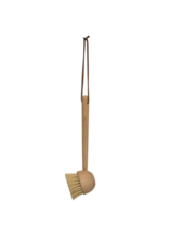 Bloomingville Beechwood Dish Brush with Leather Tie