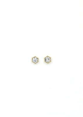 Lover's Tempo Astrid Earring Stud in Clear by Lover's Tempo