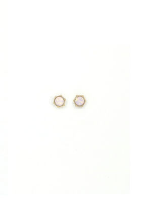 Lover's Tempo Astrid Earring Stud in Pink Opal by Lover's Tempo