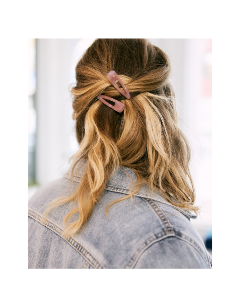 Lover's Tempo Piper Hair Clip 2-Pack in Pink by Lover's Tempo