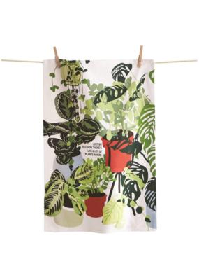 tag Lots of Plants Here Tea Towel