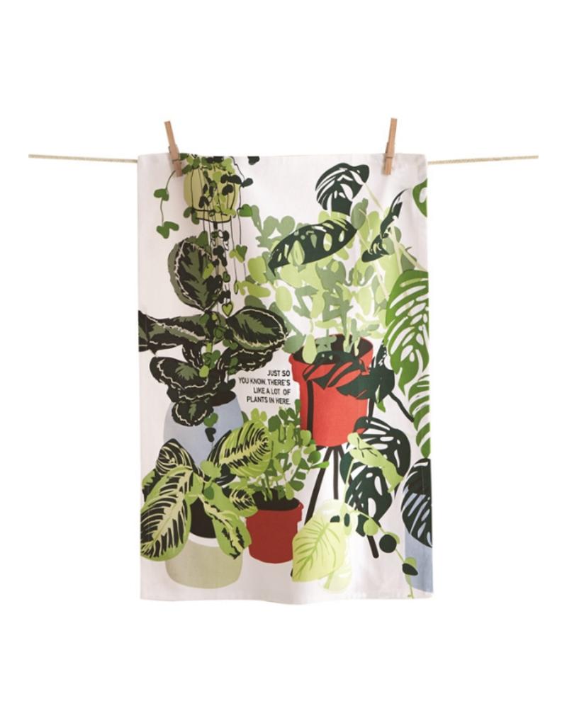 Lots of Plants Here Tea Towel