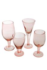 Indaba Trading Valdes Wine Glass Pink