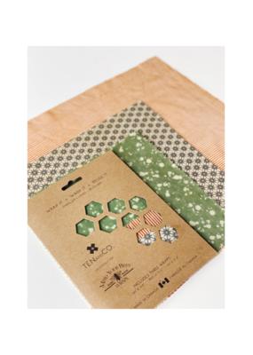 Ten & Co. Ten & Co Geo Beeswax Wrap 3 Pack
