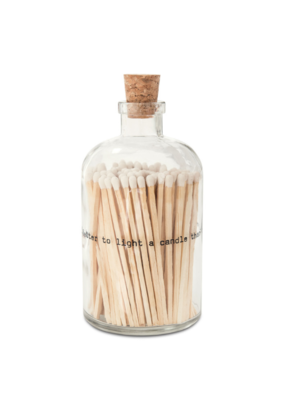 Skeem Poetry Apothecary Match Bottle White Large