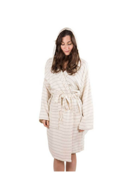 Bamboo Robe in Mist Stripe