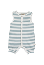 Me & Henry Pablo Ribbed Playsuit Grey & White Stripe by Me & Henry