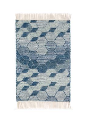 Dash & Albert Dash & Albert Odyssey Blue Woven Wool