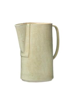 Stoneware Pitcher Matte Celadon Green