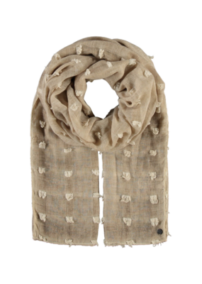 Fraas Textured Solid Scarf Beige