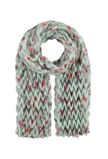 Fraas Think! Floral Plisse Scarf Turquoise