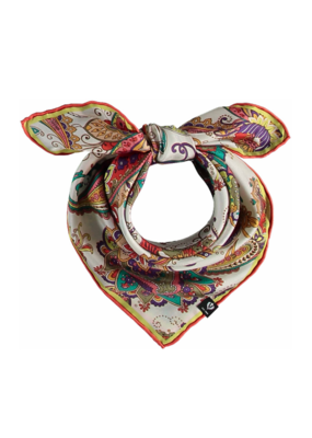 Fraas Pretty Paisley Silk Scarf Red