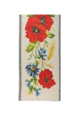 Fraas Pixel Flower Jacquard Scarf Red