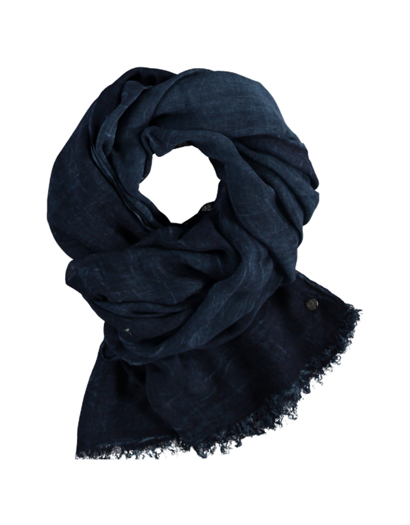 Fraas Solid Viscose Scarf Navy