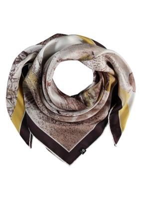 Fraas Hidden Tiger Silk Scarf Curry