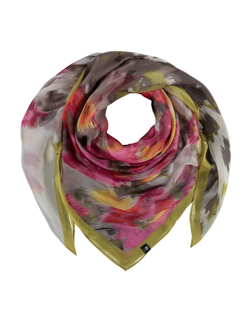 Fraas Floral Mirage Silk Scarf Lime