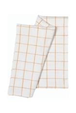 Set of 2 Vintage Heirloom Ochre Tea towels