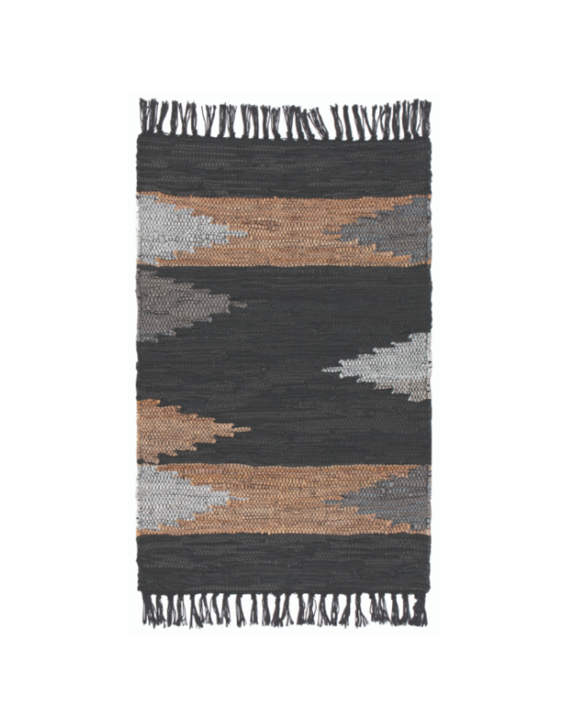 Mercer Leather Chindi Rug 2'x3'
