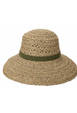 Open Weave Sun Hat with Olive Band  by San Diego Hat Company
