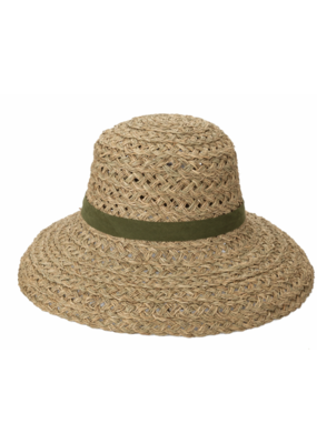 San Diego Hats Open Weave Sun Hat with Olive Band by San Diego Hat Company