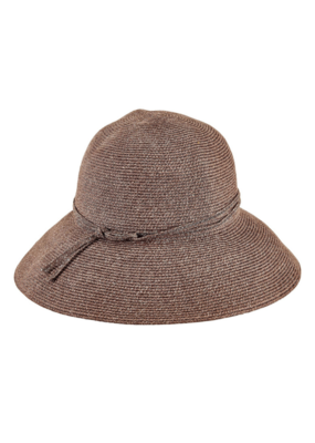 Packable Cloche Hat in Brown by San Diego Hat Company