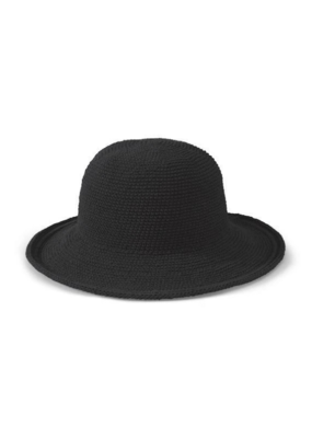 San Diego Hats Cotton Crochet Hat in Black by San Diego Hat Company