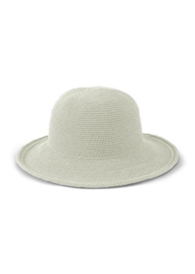 Cotton Crochet Hat in Stone  by San Diego Hat Company