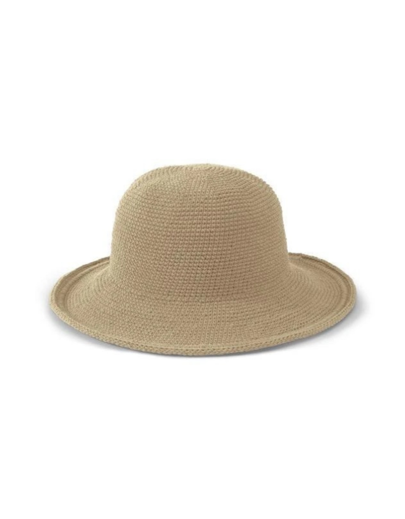 Cotton Crochet Hat in Natural  by San Diego Hat Company