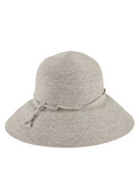 Packable Cloche Hat in Grey by San Diego Hat Company