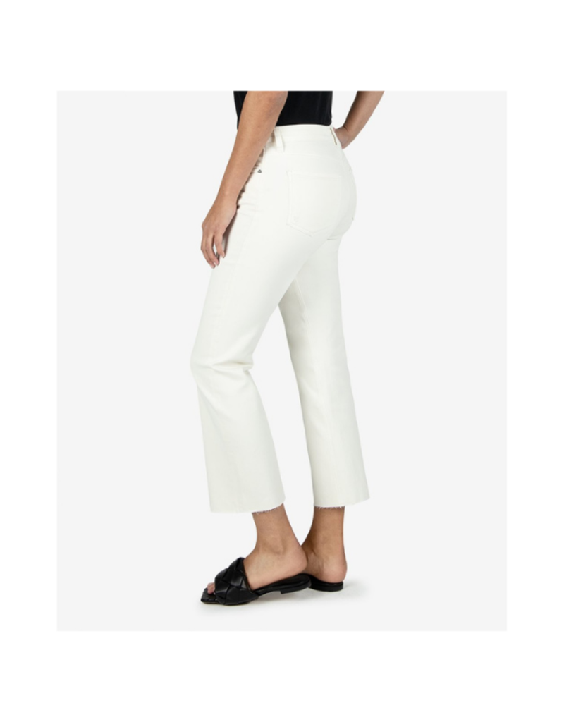 Kut from the Kloth Kelsey High Rise Crop Straight Leg in Ecru by Kut from the Kloth