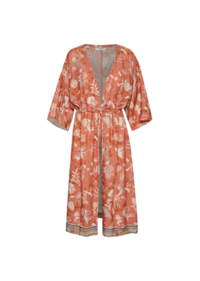 Johul Kimono in Saraza Flower Mix Print by Cream