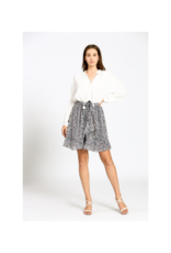 See U Soon Navy Print Skirt by See U Soon