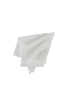Indaba Trading Set of 6 Frayed Edge Cloth Napkin Ivory