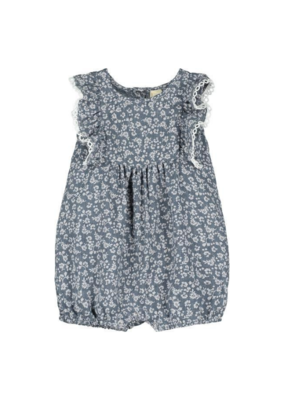 vignette Vignette Poppy Bubble Romper Blue
