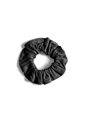 InWear Rejina Leather Hair Scrunchie in Black by InWear