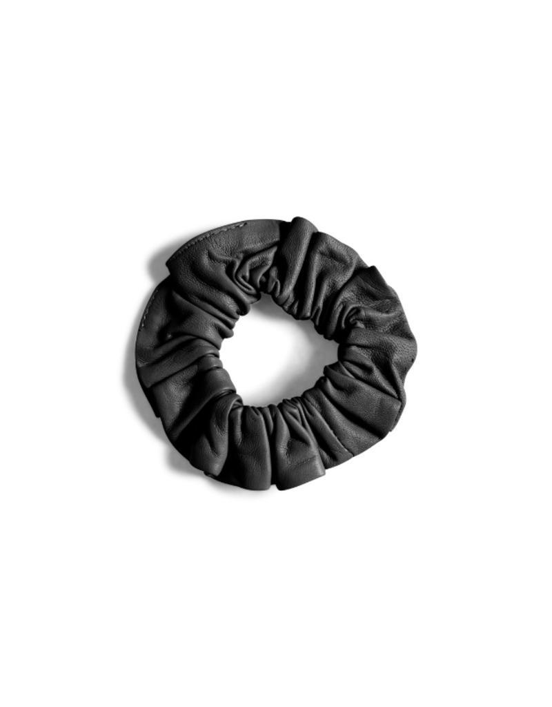 InWear Rejina Leather Hair Scrunchie in Black by InWear