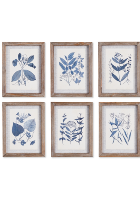 Blue Leaf Petite Art Prints