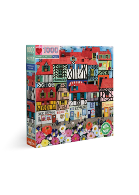 eeBoo Whimsical Village 1000 Piece Square Puzzle