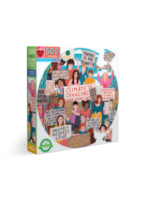 eeBoo Climate Action 500 Piece Round Puzzle
