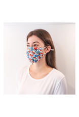 lemonwood Silk Pleated Face Mask Hibiscus