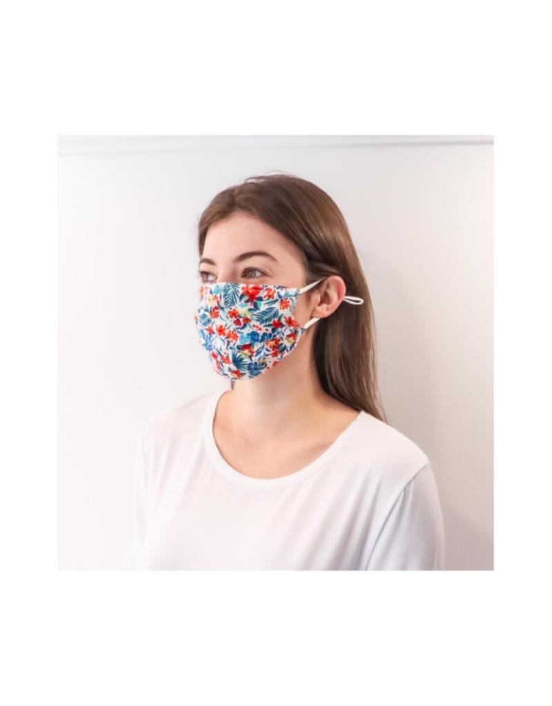 lemonwood Hibiscus Silk Pleated Face Mask