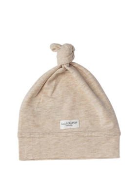 LouLou Lollipop Loulou Lollipop Top Knot Beanie Heather Oatmeal