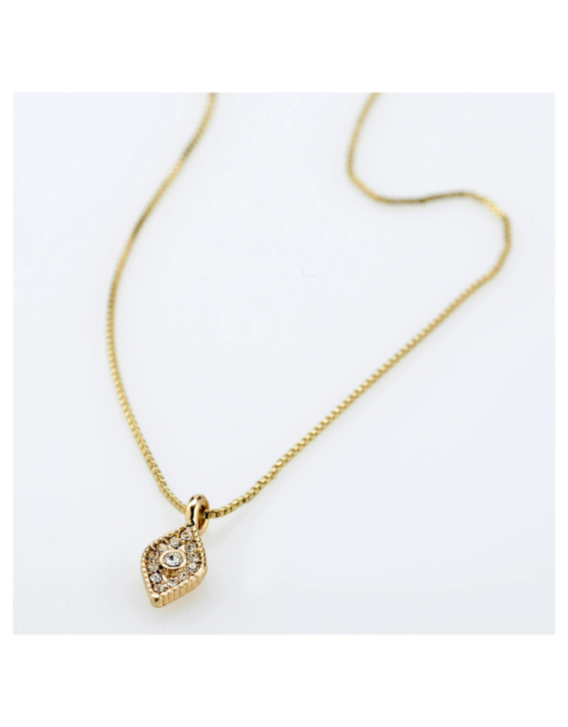 PILGRIM Sincerity Crystal Necklace Gold-Plated by Pilgrim